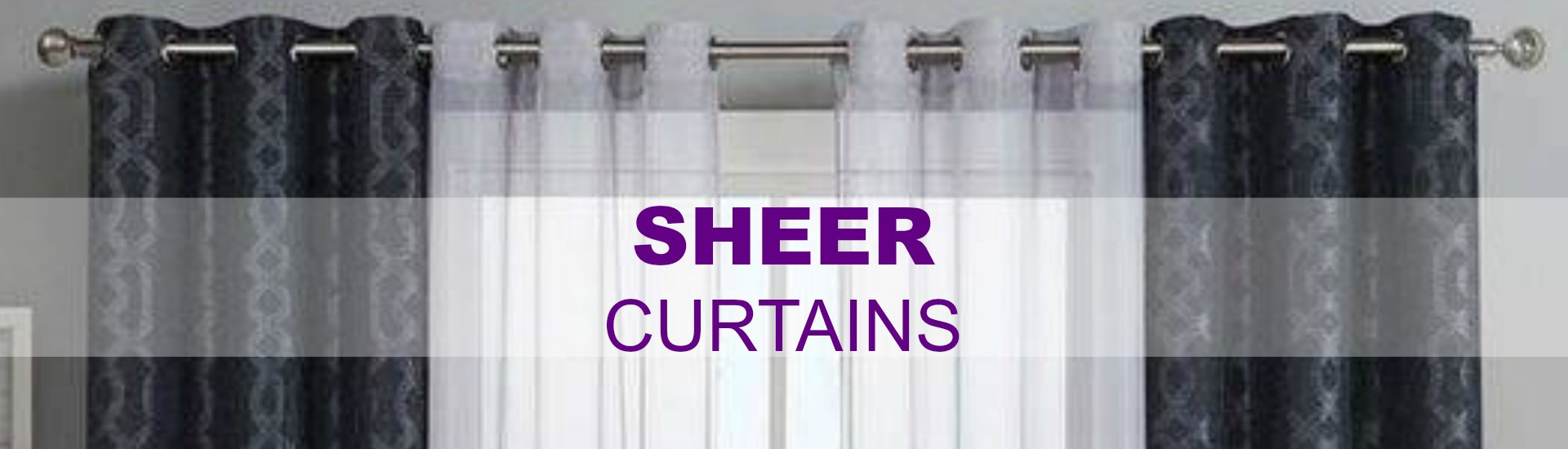 Sheer curtains offer privacy and comfort